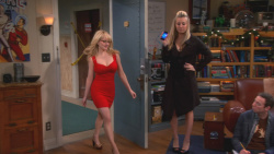 Kaley Cuoco and Melissa Rauch Looking Sexy on The Big Bang Theory S06 E11 The Santa Simulation