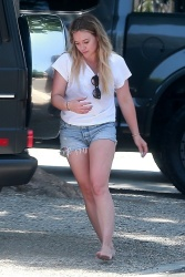 Hilary Duff - Stops by her sister's house in Studio City 7/30/17