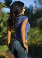 Дениз Милани, фото 4416. Denise Milani Blue T-Shirt, foto 4416