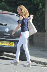 Geri Halliwell - Electric Car Ride London June.26.2017
