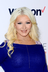 Christina Aguilera - Domestic Violence Awareness with Verizon's HopeLine Program @ The London Hotel in West Hollywood - 11/12/15