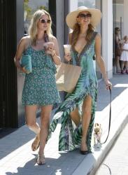 Paris Hilton & Nicky Hilton Out In Malibu July 07 2014