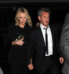 Sean Penn - Charlize Theron and Sean Penn - seen leaving Royal Festival Hall. London - February 16, 2015 (153xHQ) RpDUa765