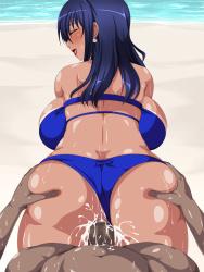 [Water Beryl] Bakunyuu Gyakunan Beach -Hitozuma Hen-