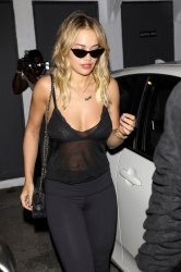 Rita Ora - wearing a see through shirt in Beverly hills