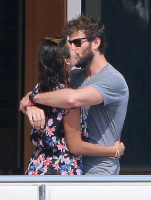 Nina Dobrev and Asustin Stowell enjoy the ocean off the cost the French Riviera (July 26) Z85CNWr1