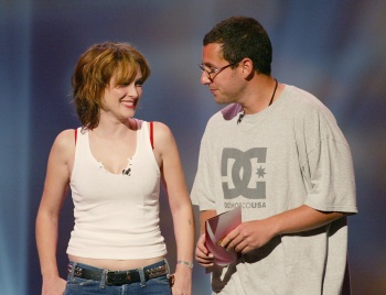 Winona Ryder getting her boobs authenticated by Adam Sandler