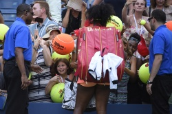 Serena Williams - 2015 US Open Day Seven: 4th Round vs. Madison Keys @ BJK National Tennis Center in Flushing Meadows - 09/06/15