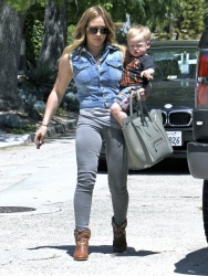 Hilary Duff - at a party at The Osbournes in Beverly Hills 4/20/13