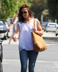 Minka Kelly - Out & About in West Hollywood 7/6/15