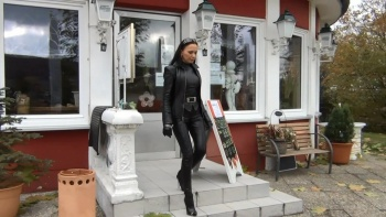 Fetish Diva Nadja - Private Clip In Skintight Leather Designer Outfit