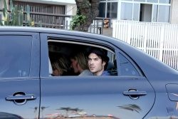 Ian Somerhalder - waves to photographers as he arrives at a private party in Rio - June 01, 2012 - 7xHQ GVucfteR