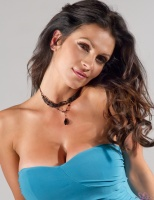 Дениз Милани, фото 5517. Denise Milani Blue Dress 2012 :, foto 5517