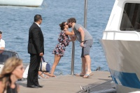 Nina Dobrev and Asustin Stowell enjoy the ocean off the cost the French Riviera (July 26) 6v8Gzp12
