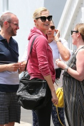 Charlize Theron - Leaving Stanley's Restaurant after Lunch with friends 7/25/17