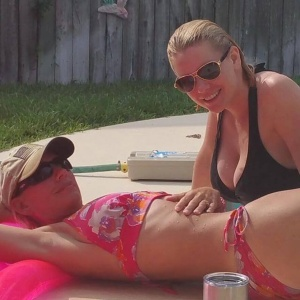 Carrie Keagan and Sister Bikini Pic