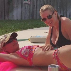 Carrie Keagan and Sister Bikini Pic