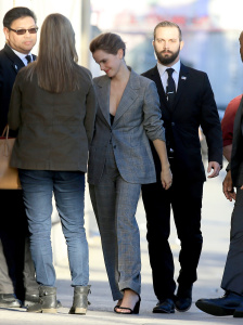 Emma Watson - Outside 'Jimmy Kimmel Live' in Hollywood - March 6th 2017