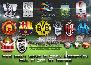 Download PES 2014 Wave Glossy Logopack - All in One