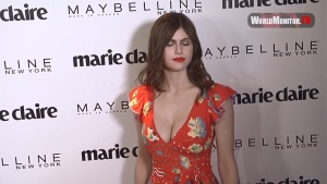 Alexandra Daddario at Marie Claire 2017 'Fresh Faces' Celebration Red carpet 2017