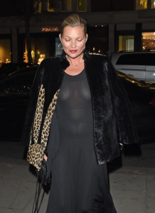 Kate Moss - Seen Leaving The Sumosan Twiga Restaurant in London - February 21st 2017