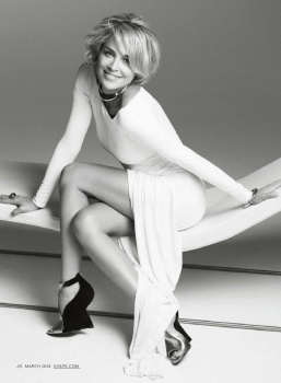Sharon Stone is Youthful at 56! Displays in a White Bikini for Shape Magazine