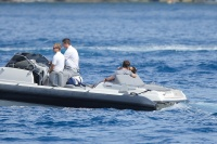 Nina Dobrev and Asustin Stowell enjoy the ocean off the cost the French Riviera (July 26) Ow0YmXxk