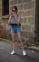 Ashley Greene - In Denim Shorts at Sake Restaurant in Sydney 12/30/16