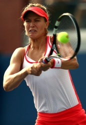 Eugenie Bouchard - 2015 US Open Day One: 1st Round vs. Alison Riske @ BJK National Tennis Center in Flushing Meadows - 08/31/15