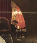 Serena Williams with rapper Drake kiss and cuddle at a Cincinnati restaurant August 23-2015 x6