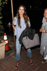 Jordana Brewster - At Madeo Restaurant in West Hollywood 7/12/17
