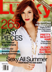 Christina Hendricks x4 Lucky (US) June/July, 2013