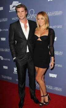 Miley Cyrus and Liam Hemsworth in June 2012