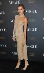 Hailey Baldwin - Paris Fashion Week Spring/Summer 2016: Vogue 95th Anniversary Party Photocall @ 51 Avenue d'Iena in Paris - 10/03/15