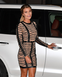 Samantha Hoopes - Arriving At The Sports Illustrated Swimsuit Issue Launch Event in NYC - February 16th 2017