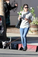Selma Blair - With her dog 'ducky' out in Sherman Oaks 11/30/16