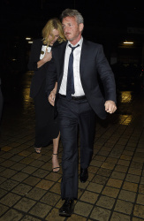Sean Penn - Charlize Theron and Sean Penn - seen leaving Royal Festival Hall. London - February 16, 2015 (153xHQ) SGW4GSDM