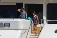 Nina Dobrev and Asustin Stowell enjoy the ocean off the cost the French Riviera (July 26) LY7snxrv