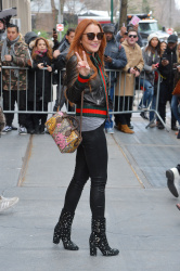 Lindsay Lohan - Leaving The View in NYC 2/13/117