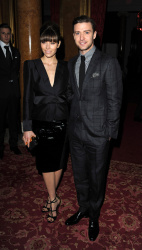 Jessica Biel - Tom Ford show at London Fashion Week 2/18/13