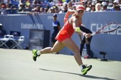 Sabine Lisicki - 2015 US Open Day Eight: 4th Round vs. Simona Halep @ BJK National Tennis Center in Flushing Meadows - 09/07/15