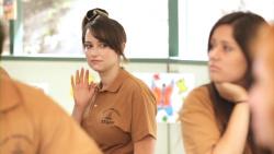 Milana Vayntrub in CollegeHumor's Camp: First Day