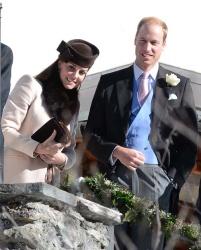 Catherine, Duchess of Cambridge - at a wedding in Arosa, Switzerland 3/1/13