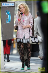 AnnaSophia Robb - on the set of 'The Carrie Diaries' in NYC 10/8/13