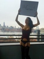 Christy Carlson Romano Freezes In Lingerie