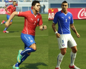 Download Chile WC 2014 Techfit Kits by diego_masn For PES 2013