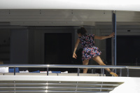 Nina Dobrev and Asustin Stowell enjoy the ocean off the cost the French Riviera (July 26) FciCl1d4