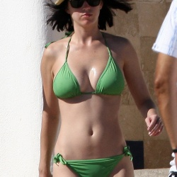 Katy Perry green bikini