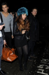 Preeya Kalidas - leaving The Rose Club in London 1/26/13