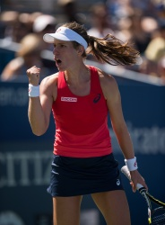 Johanna Konta - 2015 US Open Day Six: 3rd Round vs. Andrea Petkovic @ BJK National Tennis Center in Flushing Meadows - 09/05/15